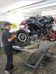 Removing rear tire3